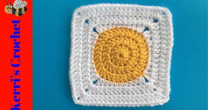 Circle to Square Granny Crochet Tutorial