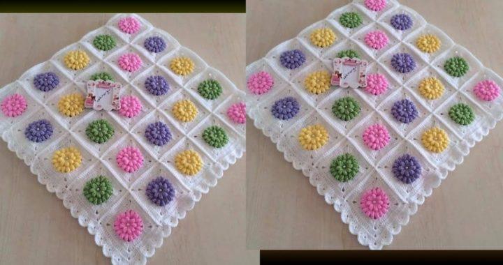Cojín de Granny en Crochet