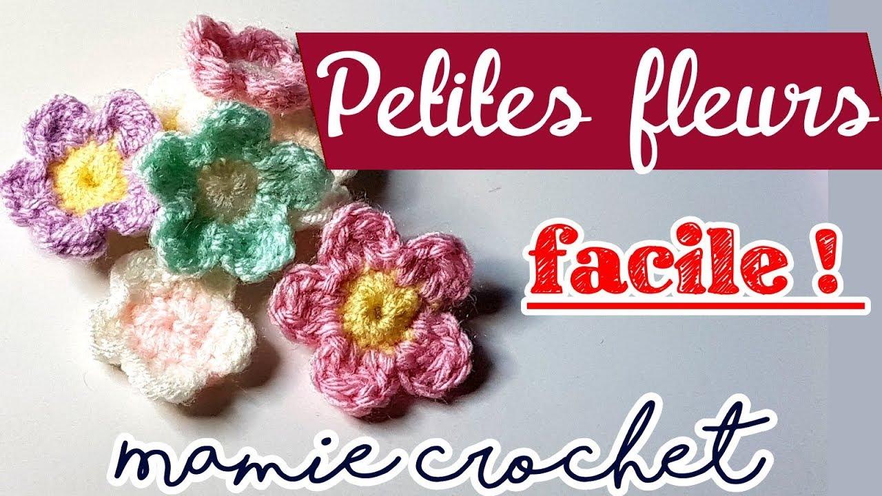 Comment faire des petites fleurs très faciles et rapide au crochet (pas à pas, tuto, diy)