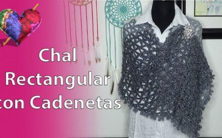 Como Hacer un CHAL RECTANGULAR (# 6) en Crochet , Facil y Rapido