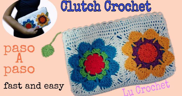 Como hacer Clutch Crochet Facil y Rapido🌷How to Crochet Easy Clutch🌷