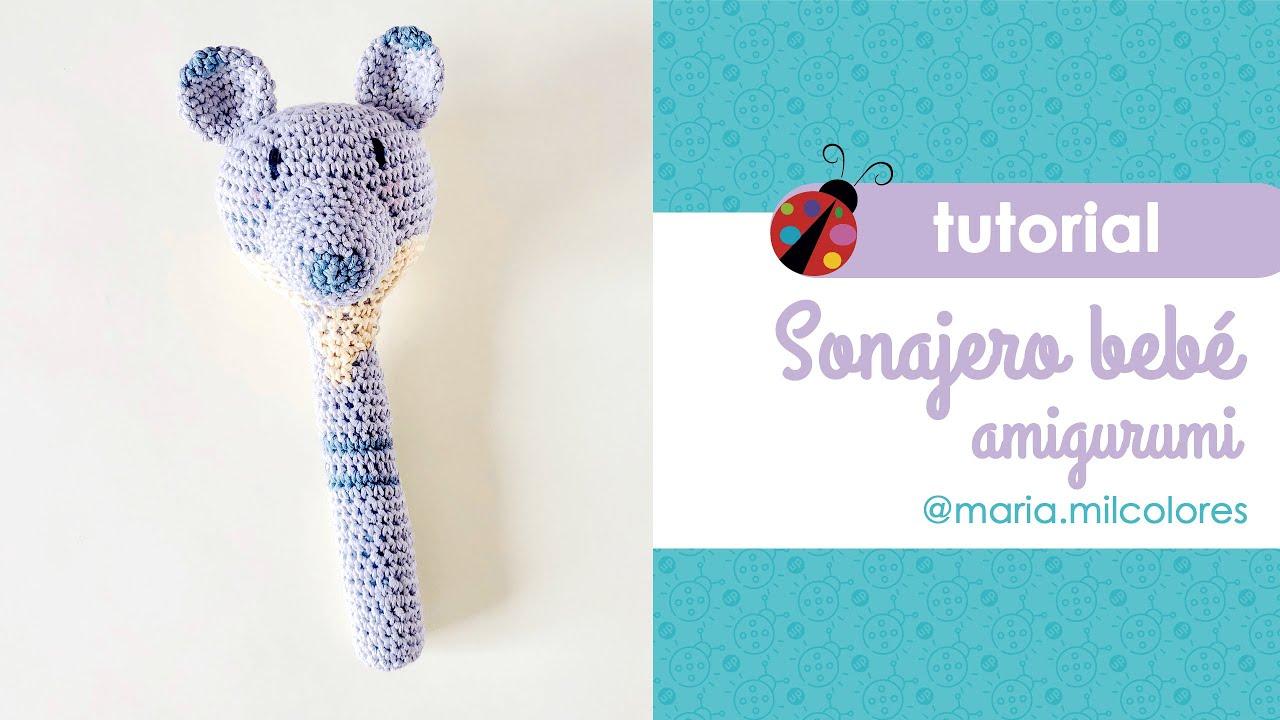 Cómo hacer un sonajero a crochet paso a paso