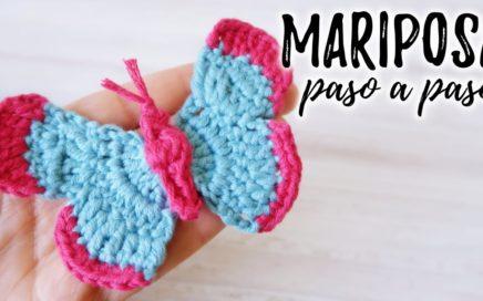 Cómo tejer MARIPOSA a crochet   TUTORIAL PASO A PASO   Ahuyama Crochet