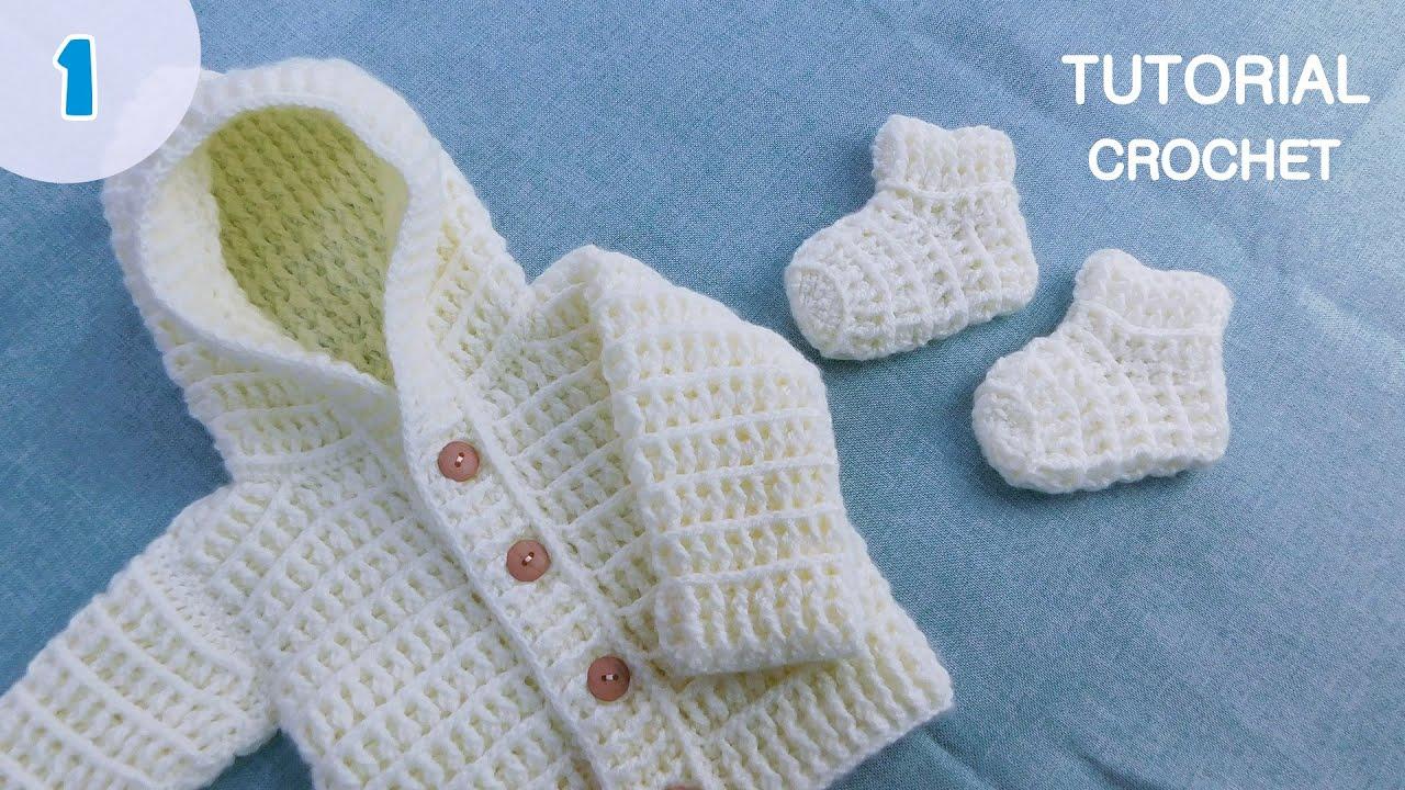 Como tejer medias, escarpines a crochet para bebes. Ajuar Crochet Ganchillo. Parte 1