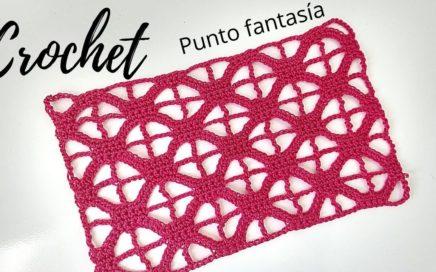 Como tejer punto crochet calado muy fácil