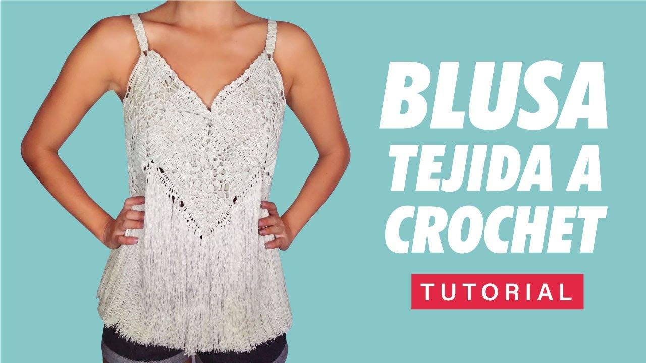 Cómo tejer una blusa hippie Style - Tutorial - Crochet Tank Top - Granny Square - Bohemia Style
