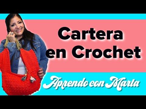 Como tejer una cartera en Crochet   Parte 1   tejido básico   Aprendo con Marta