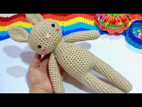 Conejita Piernas Largas Tejido Crochet Paso a paso
