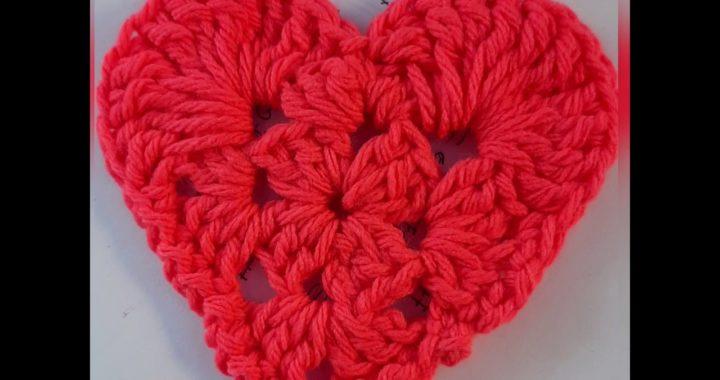 Corazón, aprender a tejer y leer patrones para principiantes, tejido crochet ganchillo