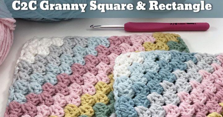 Corner to Corner Granny Square Pattern - and Rectangle | Easy Crochet Blanket