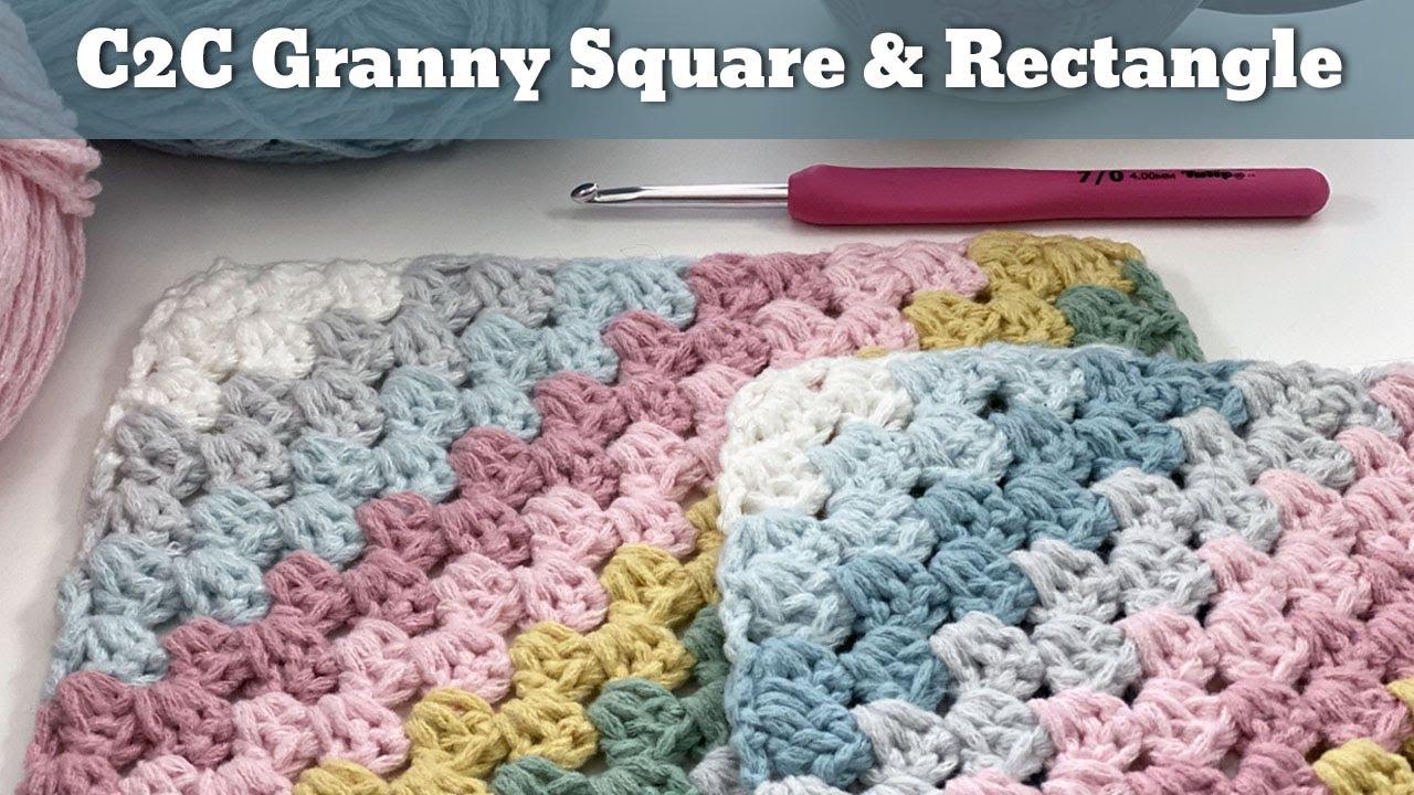 Corner to Corner Granny Square Pattern - and Rectangle   Easy Crochet Blanket