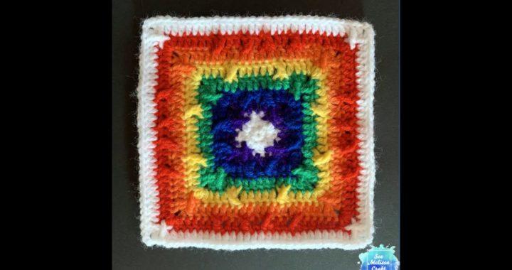 Criss Cross Applesauce Granny Square Crochet Pattern (US) - Right Handed