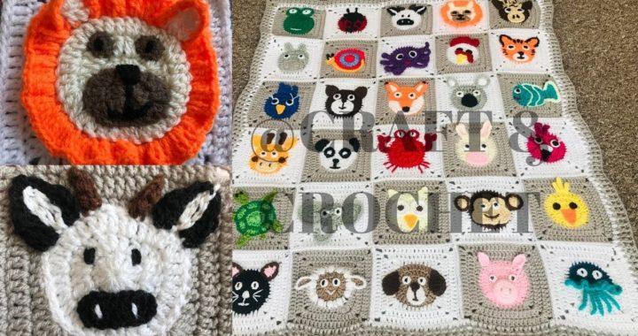 Crochet Animal blanket/Crochet Cow/Crochet Lion/Part:4
