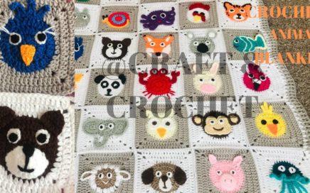 Crochet Bear/Crochet Bird/Crochet animal blanket/crochet baby blanket/Part:11