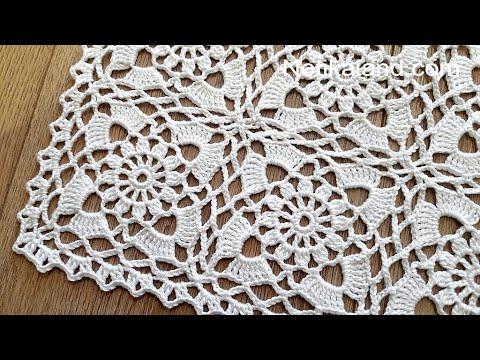 Crochet Easy Flower Square Motif #4  BORDER