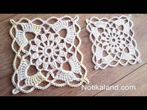 Crochet Easy Flower Square Motif #4
