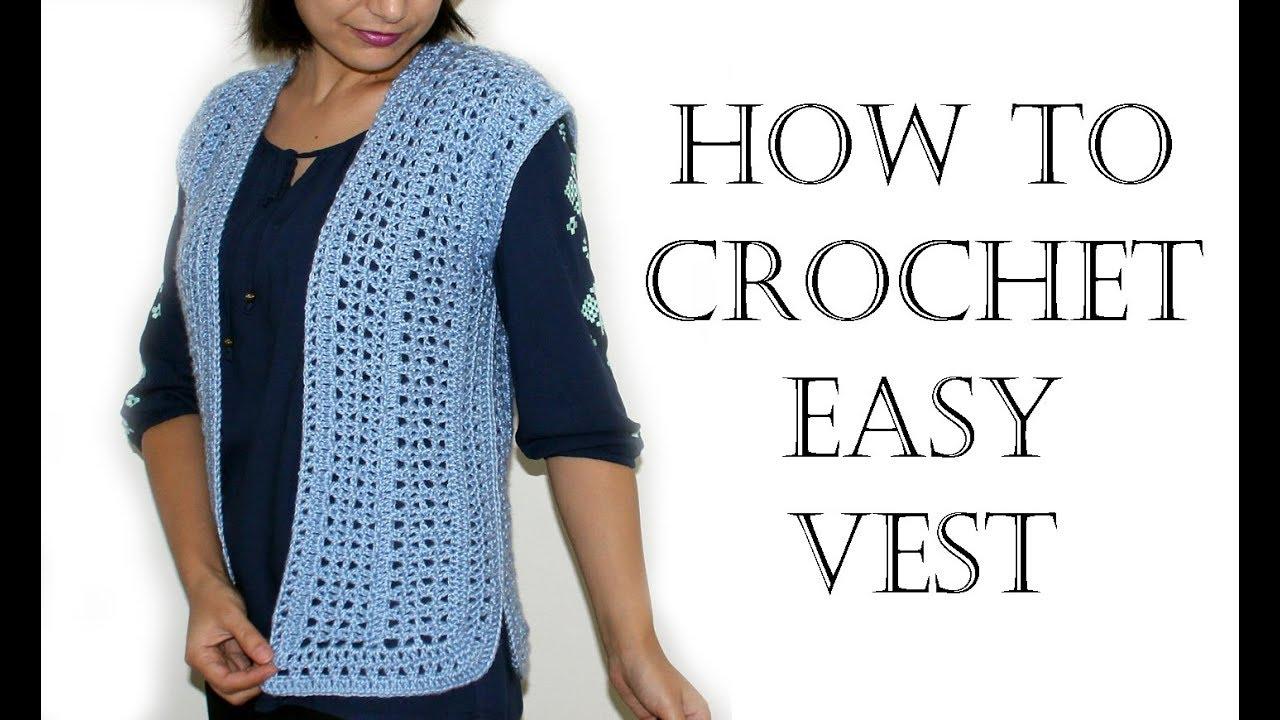 Crochet Easy Vest