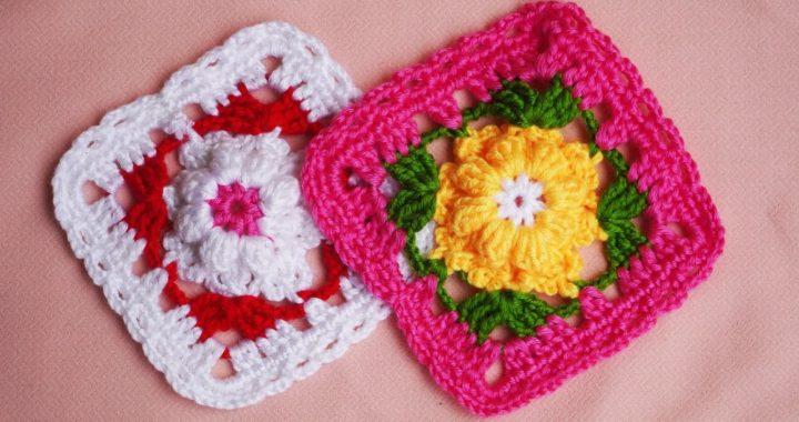 Crochet Flower Granny Square, Crochet Granny Square Step by Step