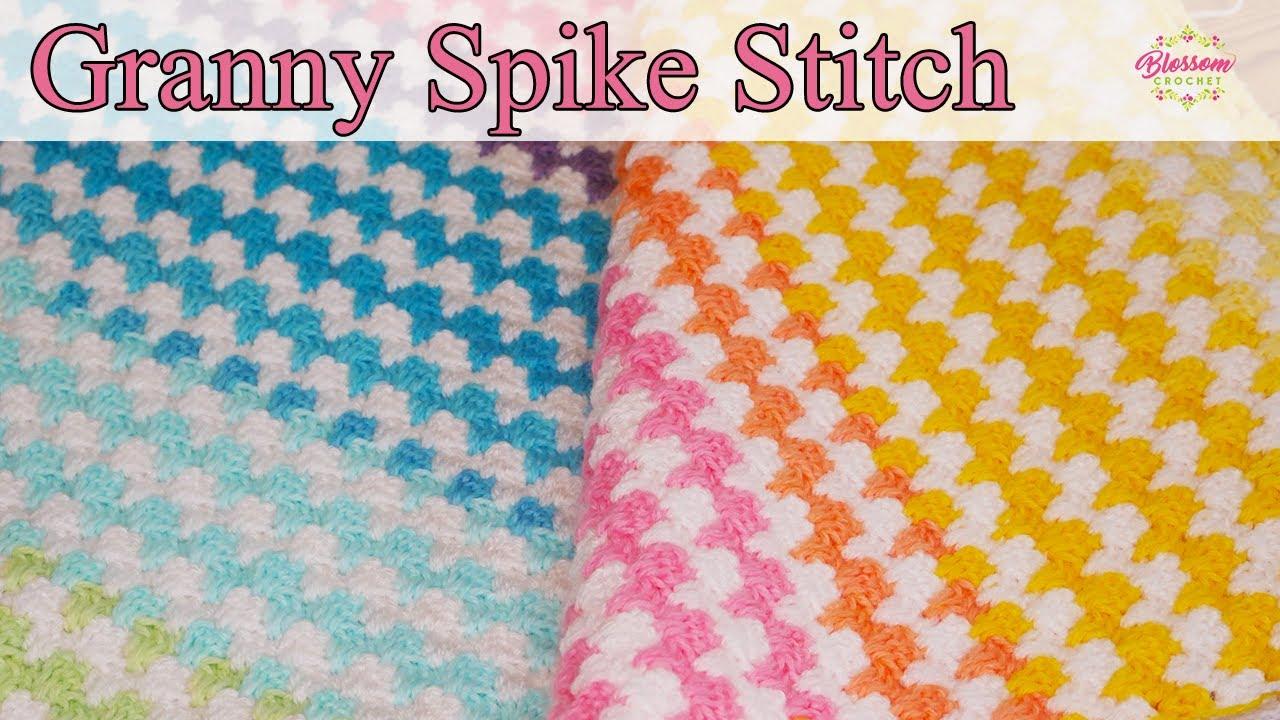 Crochet Granny Spike Stitch - Mandala Baby Yarn, One Row Repeat! 🌈 blanket/scarf