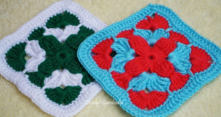 Crochet Granny Square Step by Step | How To Crochet Granny Square, Crochet Granny Square Tutorial