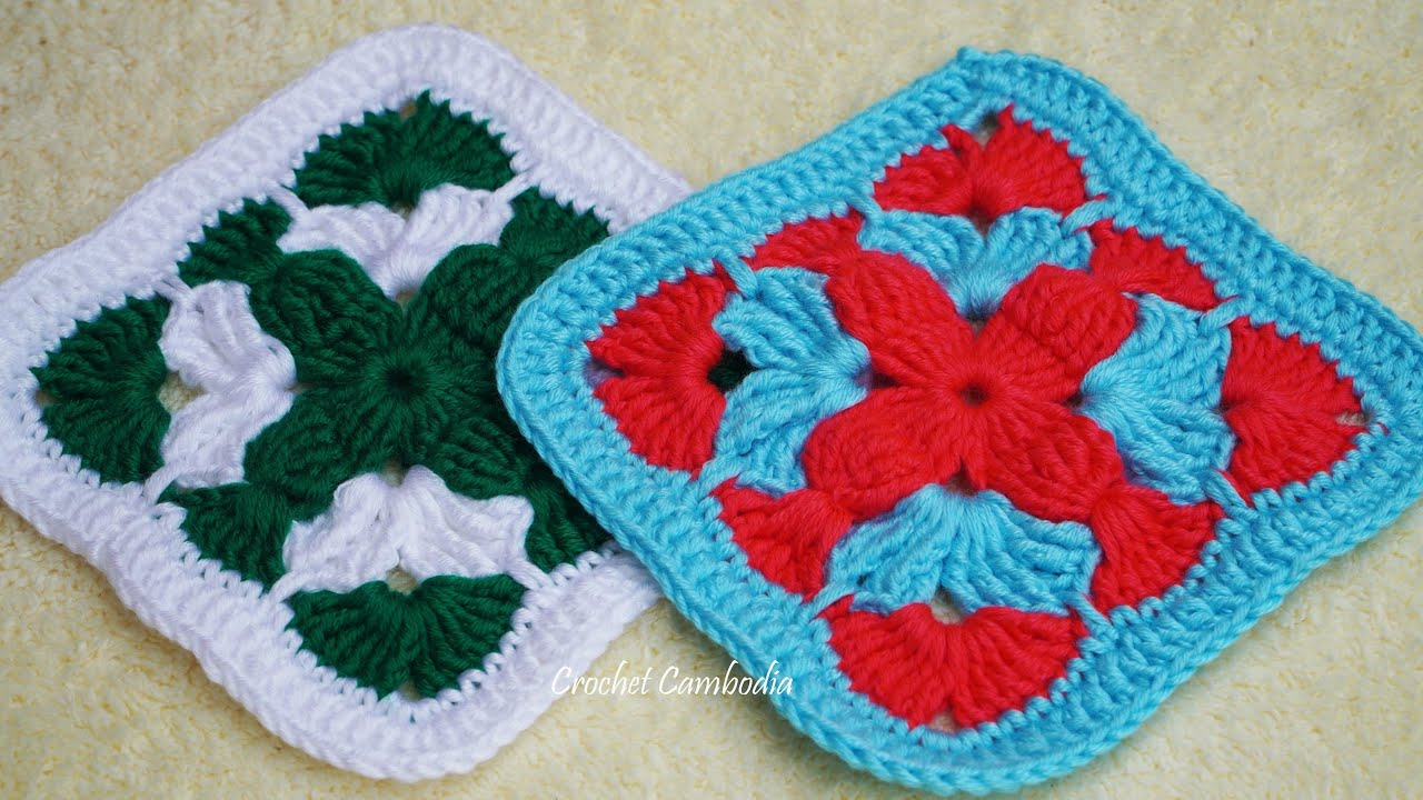 Crochet Granny Square Step by Step   How To Crochet Granny Square, Crochet Granny Square Tutorial