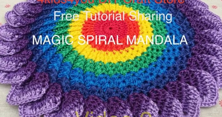 Crochet Magic Spiral Mandala Mat - Video 2 ( English Subtitle)