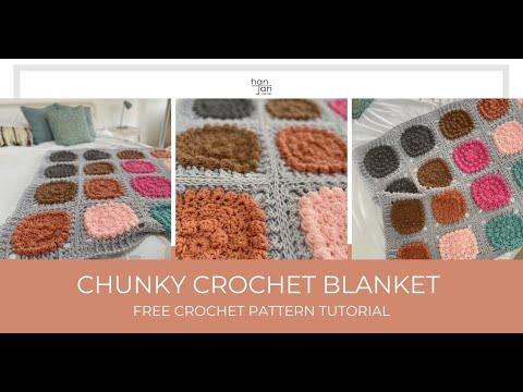 Crochet Pattern Tutorial - How to crochet a chunky blanket