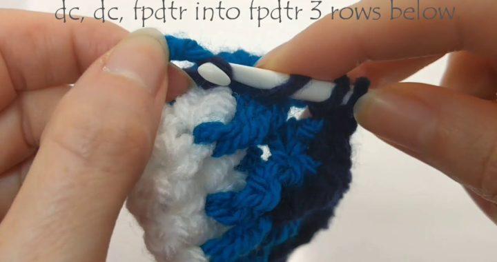 Crochet Stitch Guide for Azure Memories free crochet pillow pattern
