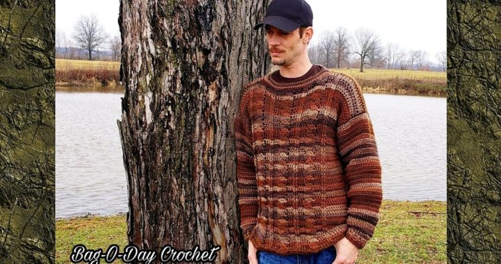Crochet Sweater | Easy Crochet Cable Pullover  | Bag O Day Crochet Tutorial 560