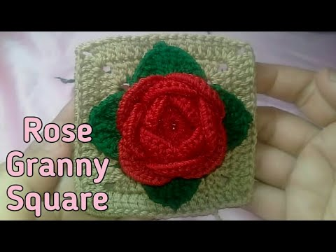 Crochet Time : Rose Granny Square part 2