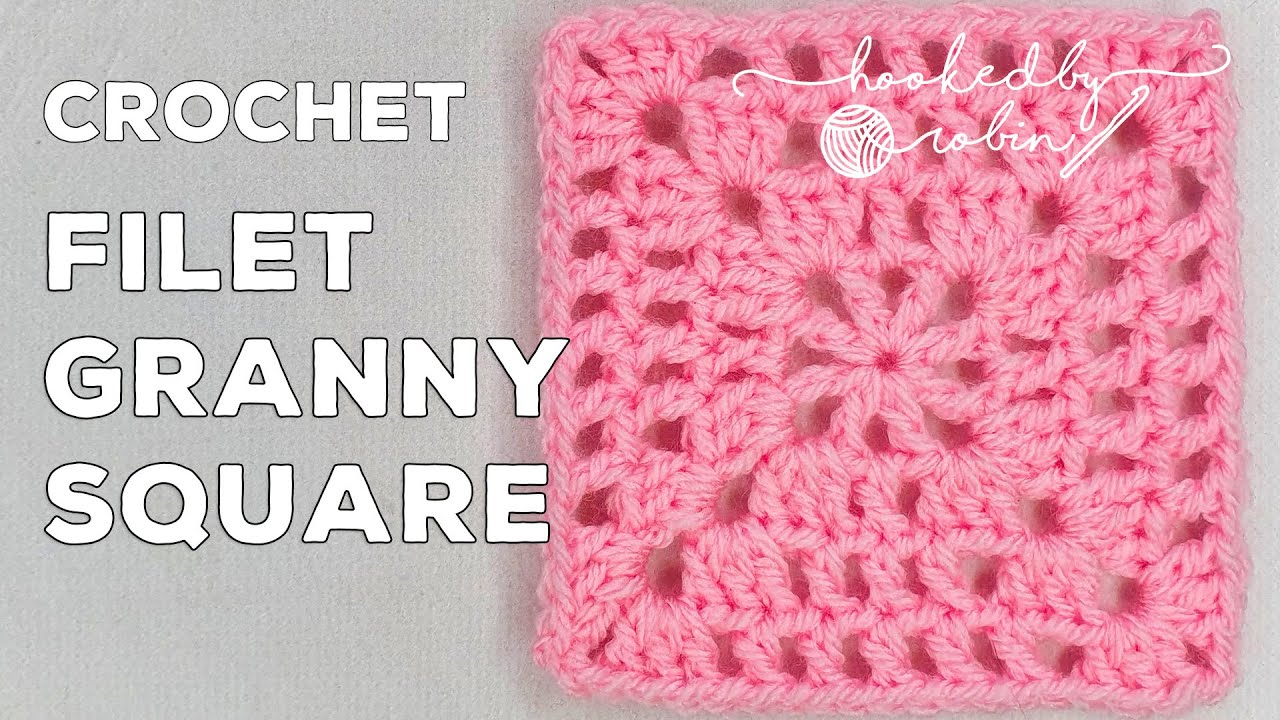 Crochet Vintage Filet Granny Square Tutorial