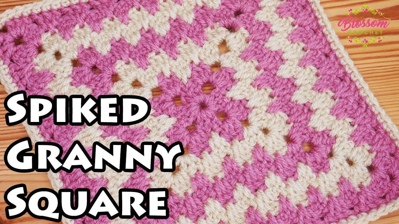 Crochet a Spiked Granny Square - Easy repeat and no holes!