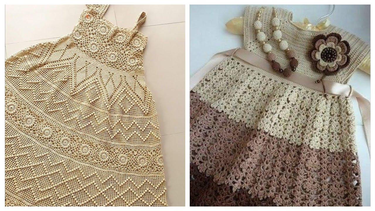 Crochet baby #frocks #short