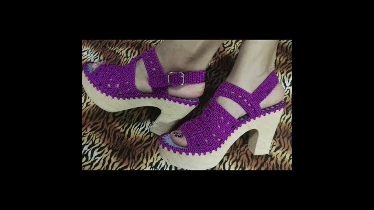 Crochet barefoot and fancy shoes design