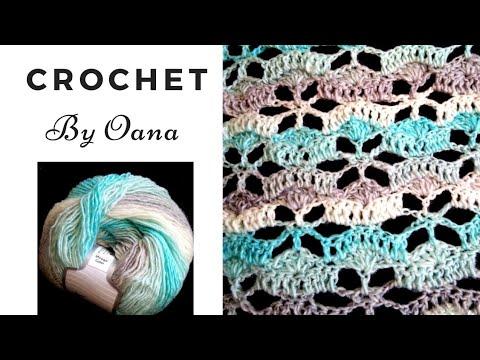 Crochet flowers stitch by Oana