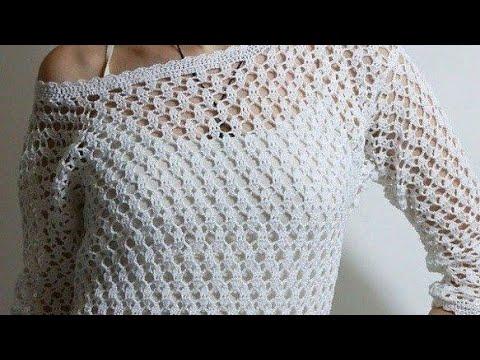 Crochet pattern for pullover - Узор крючком для пуловера