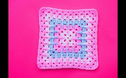 Crochet square for blankets very easy @Majovel crochet