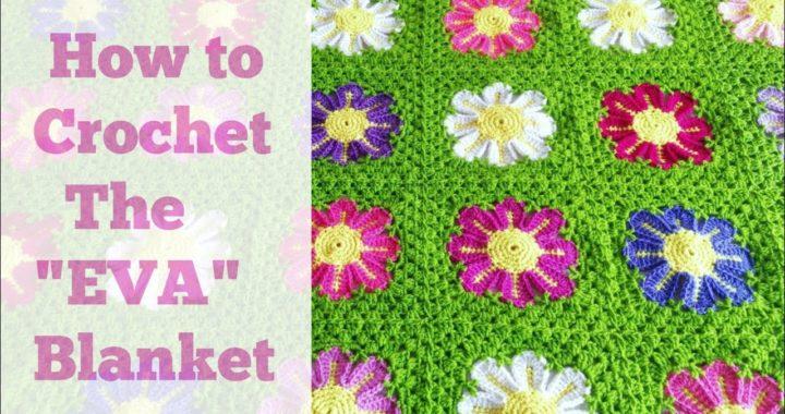 """Crochet the """"Eva Flower Blanket"""" Granny Square Motif"""