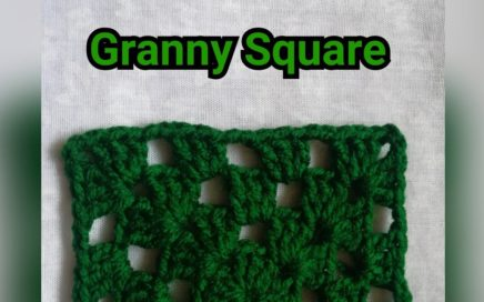 #CrochetEasy Tutorial of easy granny square/double crochet granny square/basic granny square