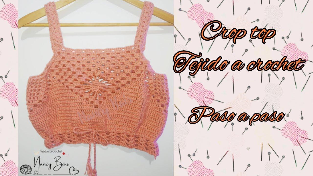 🧶Crop top tejido a crochet/ Primera parte// Nancy Bais🧶