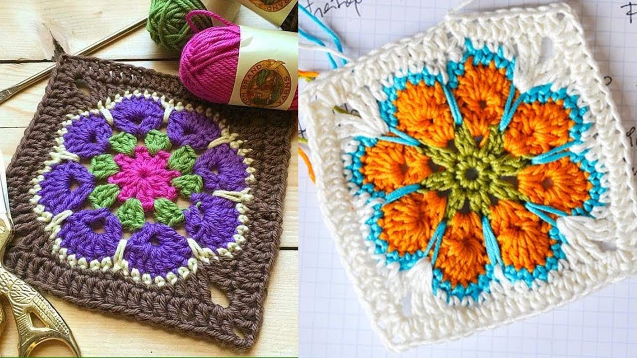Cuadrado -Tejido a Crochet