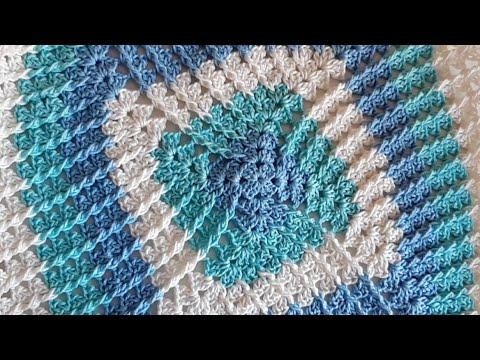 Cuadro 3D # Granny Square A Crochet Con Punto Relieve