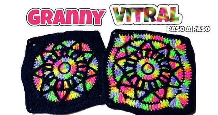 Cuadro Vitral Tejido a Crochet / Paso a paso 23cm