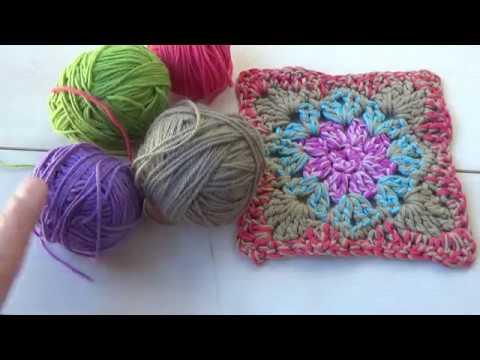 Cuadro para manta a ganchillo | crochet facil