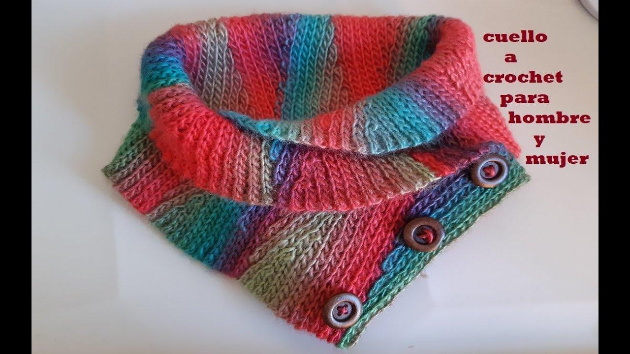 Cuello a crochet - paso a paso - tutorial a ganchillo