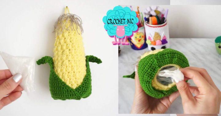 Dispensador de bolsas a crochet - Mazorca
