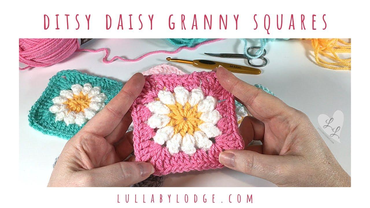 Ditsy Daisy Granny Squares - Crochet Tutorial
