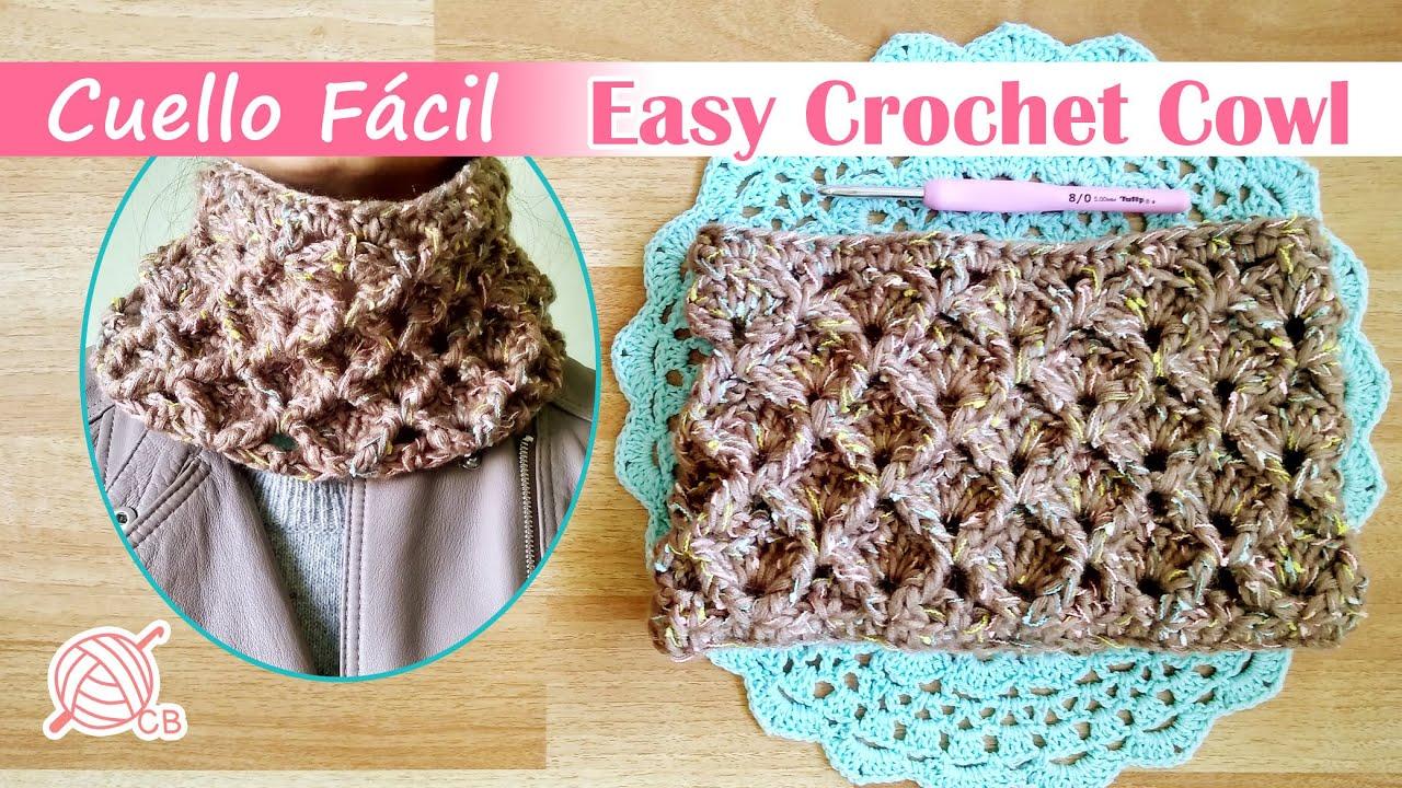 [ENG Sub] Easy Crochet Cowl - Cuello Infinito Fácil Punto 3D - Easy 3D Stitch Free Pattern - FW 2020