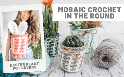Easter Crafts - Beginner tutorial Mosaic Crochet in the Round