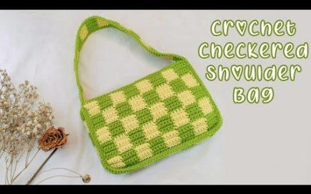 Easy Crochet Checkerboard Shoulder Bag Tutorial | Chenda DIY